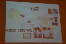 "Kim Milan, keynote speaker, ""Mixed Like We"" prezi presentation."