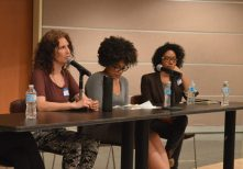 Intersectionality panel (Jamaias DaCosta, Latisha Cairo Reddick, Thembani Mdluli).