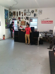 Luke Reece performing at the 416Gallery Opening Reception and After Party