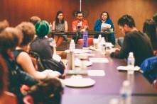 Mixed-Race Identity & Family panel (L-R Dani Kwan-Lafond, Christopher McKinnon, Zainab Amadahy). Photo credit: Shelby Lisk