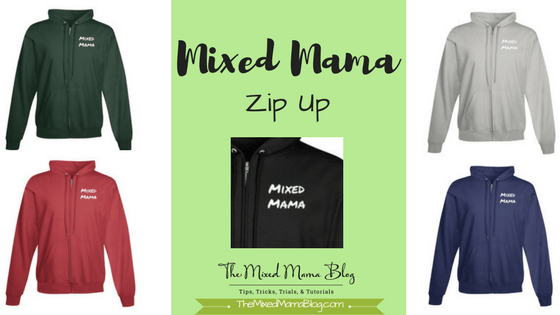 Mixed Mama Zip Up Hoodie