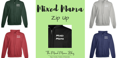 Mixed Mama Zip Up Hoodie