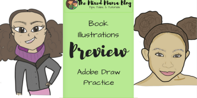 Book Illustrations Preview - Adobe Draw Practice