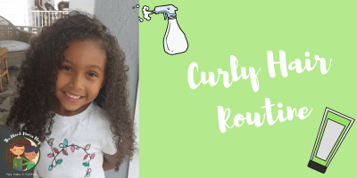 Curly Hair Routine - Biracial Hair Care by the Mixed Mama Blog