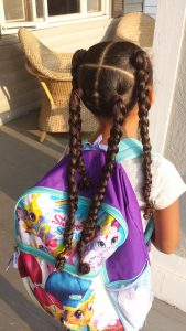 One Hairstyle Multiple Looks - 4 Hair Sections - by Mixed Family Life _ 4 braids