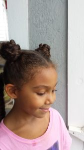 One Hairstyle Multiple Looks - 4 Hair Sections - by Mixed Family Life _ loose buns