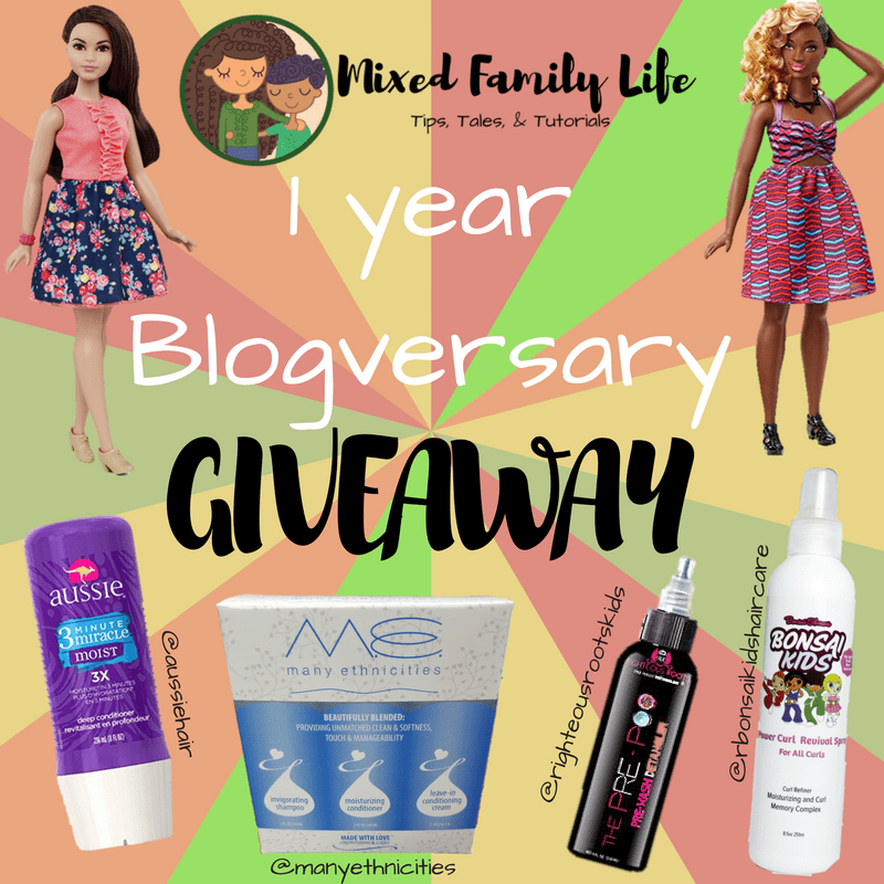 Easy Deep Conditioning in a Rush -Blogversary - Mixed Family Life - Giveaway for Multriacial Media