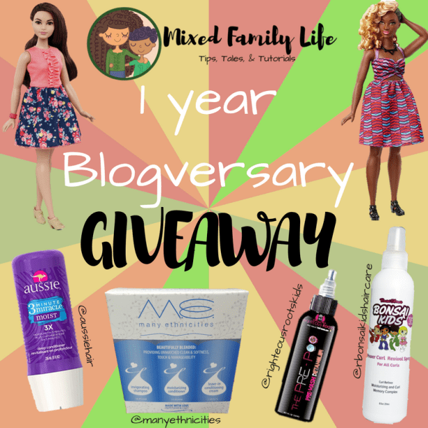 Blogversary - Mixed Family Life - Giveaway