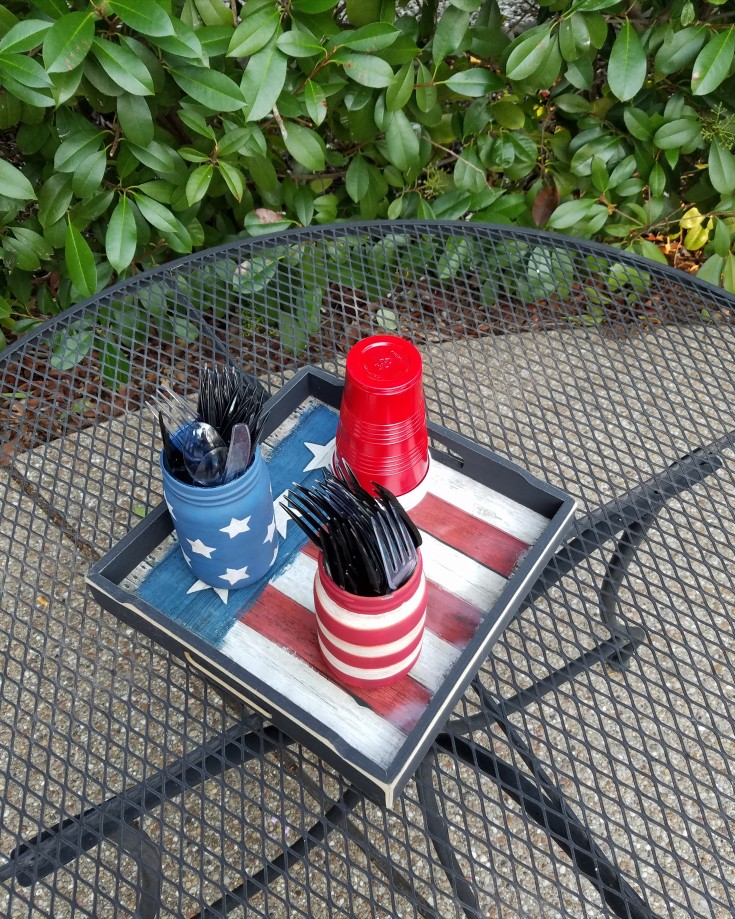 Easy Stars and Stripes Glass Jar – Patriotic Décor