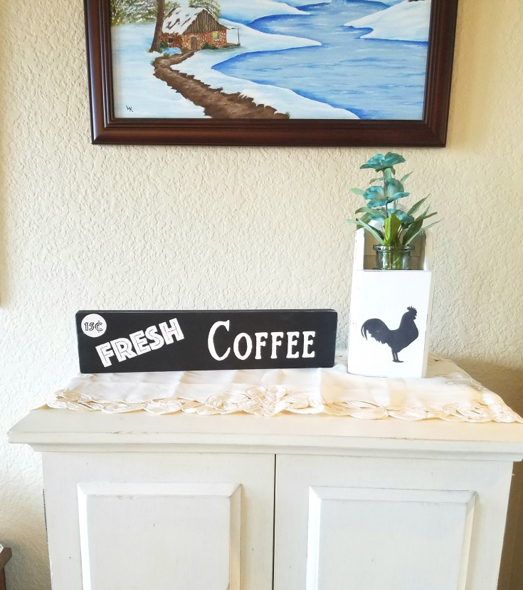 Easy Diy Wood Signs, fresh coffee block