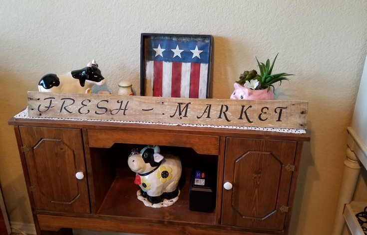 Easy Diy Wood Signs, fresh market pallet sign