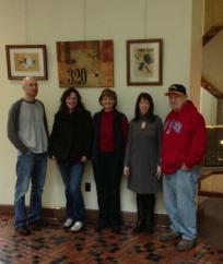 Installation crew-Doug Tomlinson, Christine Goldbeck, Joanne Finkle, Ann Lawson, Bob McCloskey
