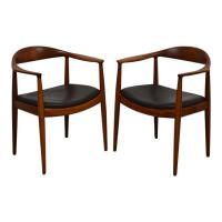 Hans J. Wegner Round Chairs - A Pair - Mixed Modern ...
