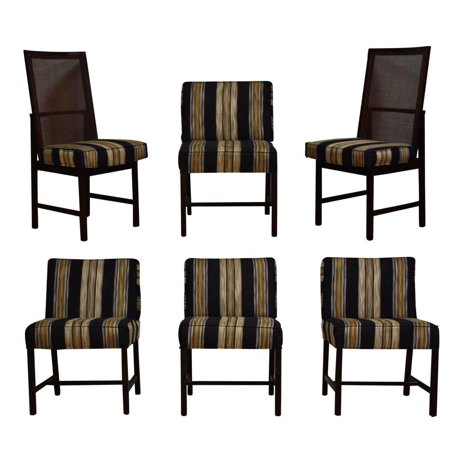 Dining Chair Set Of 6 Ebonized Dining Chairs Set Of 6