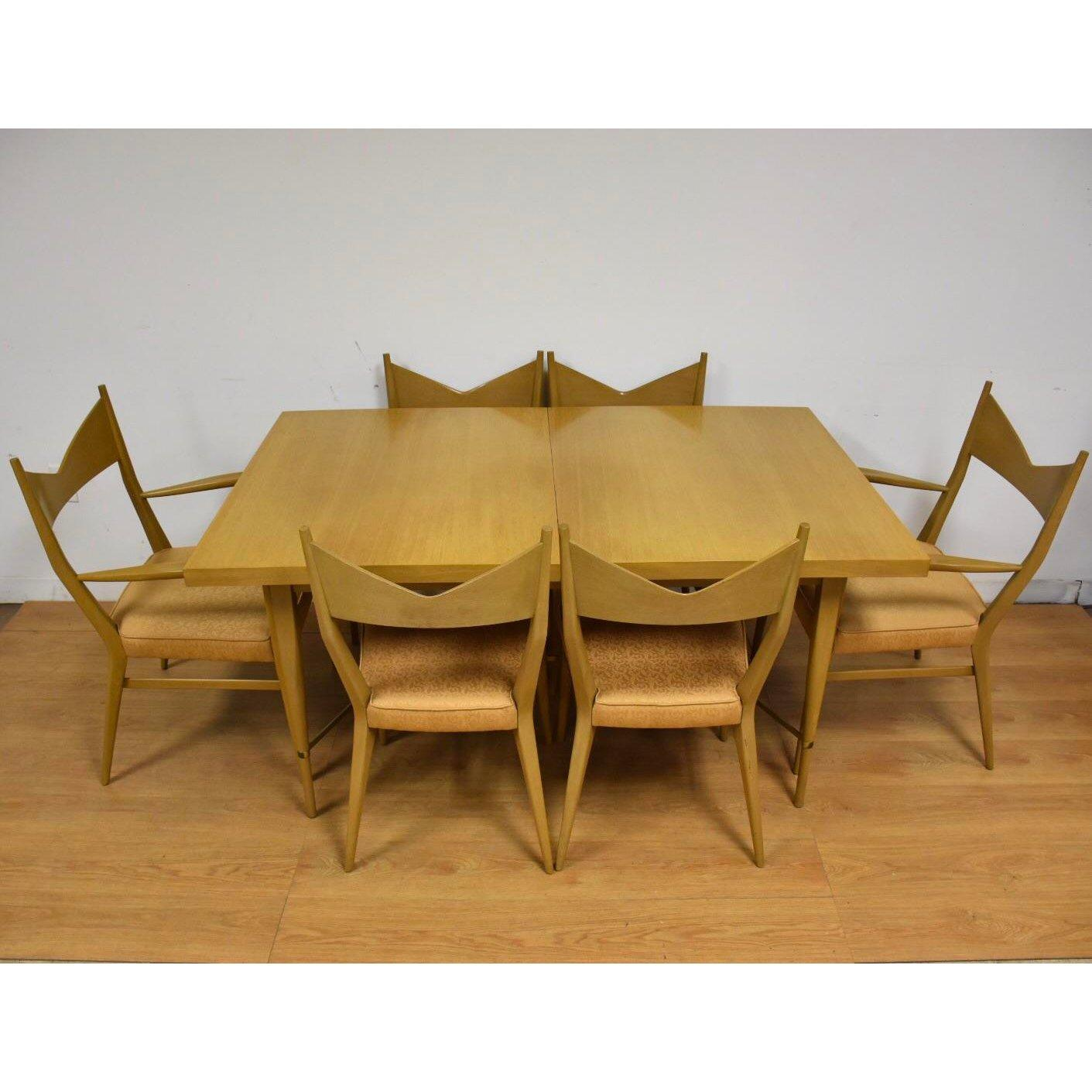 Paul Mccobb Chairs Dining Table And Chairs By Paul Mccobb Set Of 7