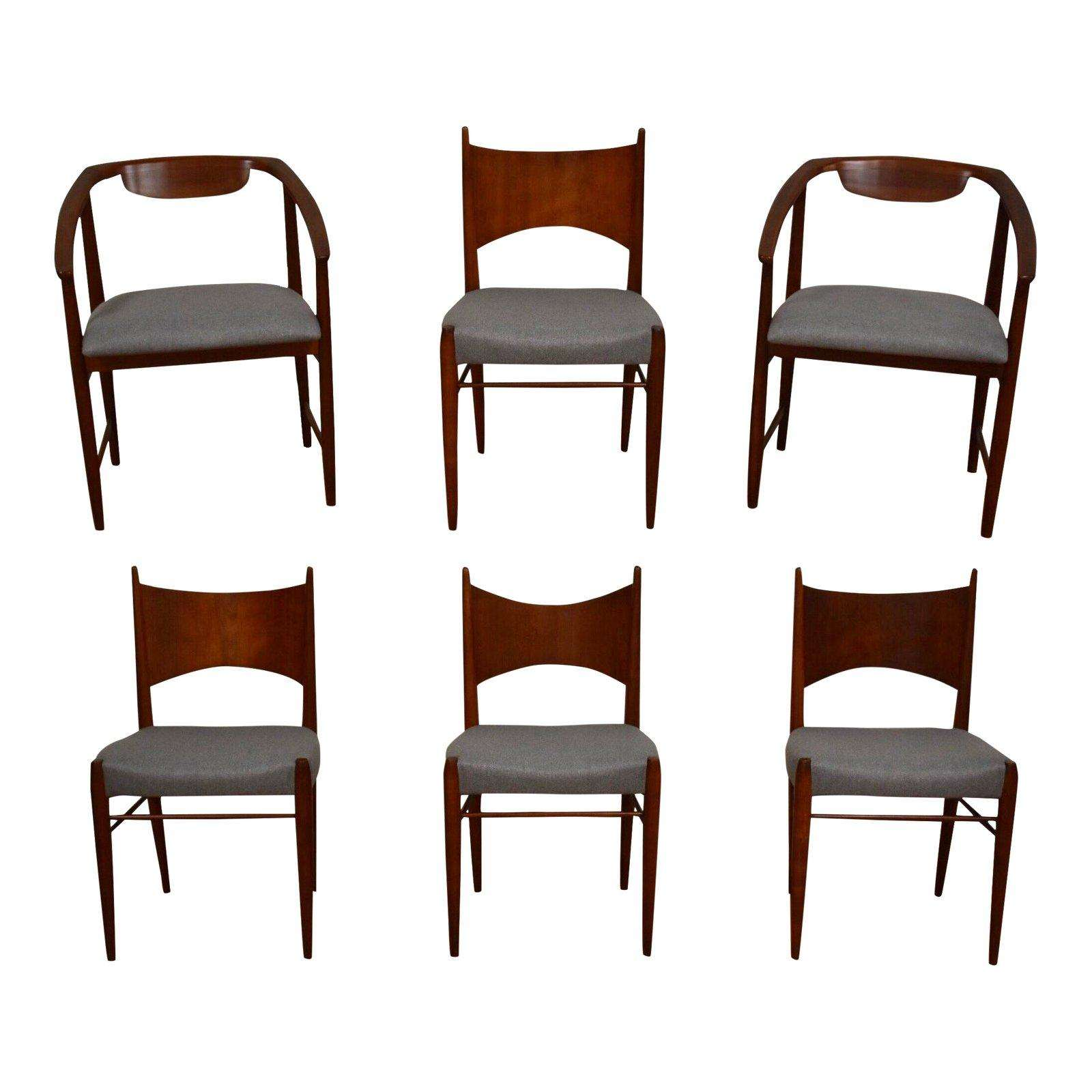 Dining Chair Set Of 6 Grey Kipp Stewart Cherry Dining Chairs Set Of 6