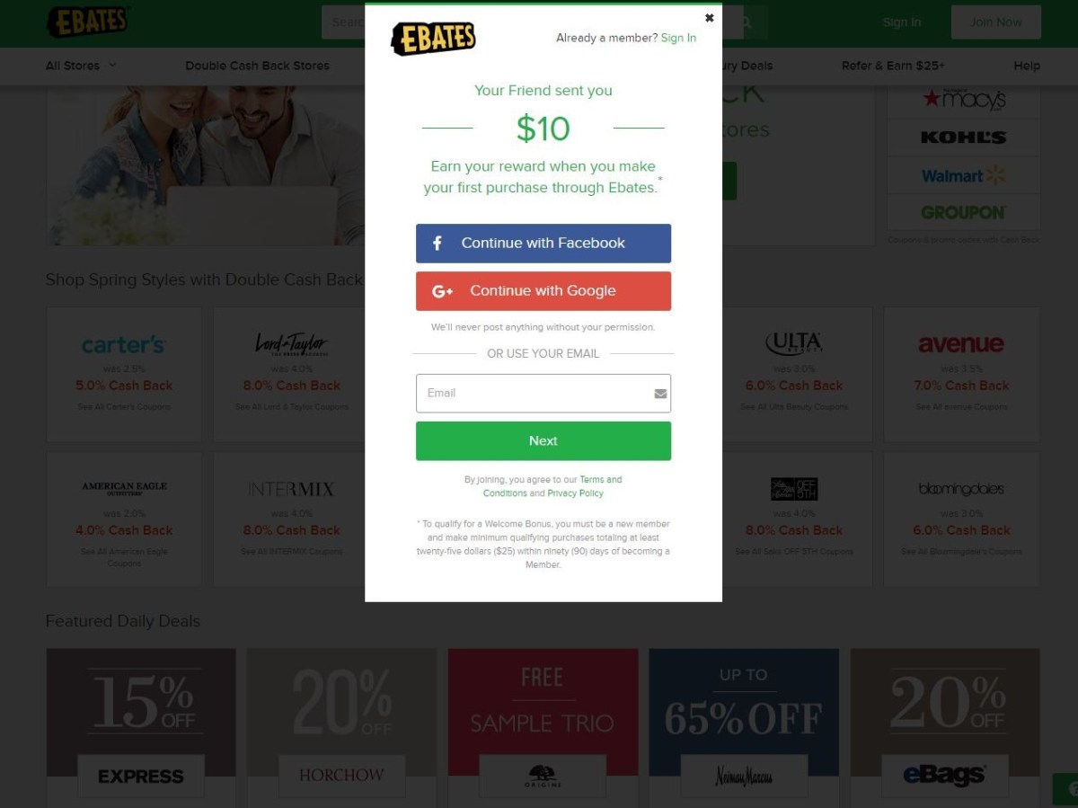 Shopping Online with Ebates ($10 Bonus)
