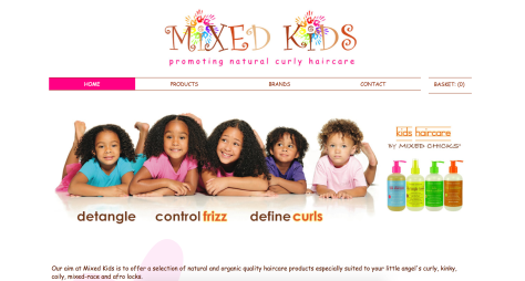 mixed race curly hair products