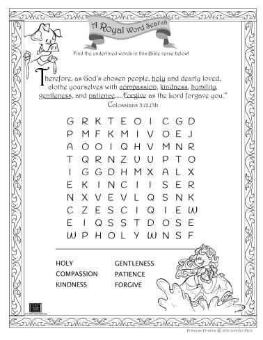 Pristina wordsearch - child