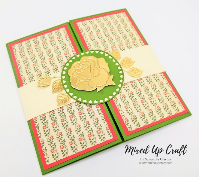 Drop Down Gate Fold Card