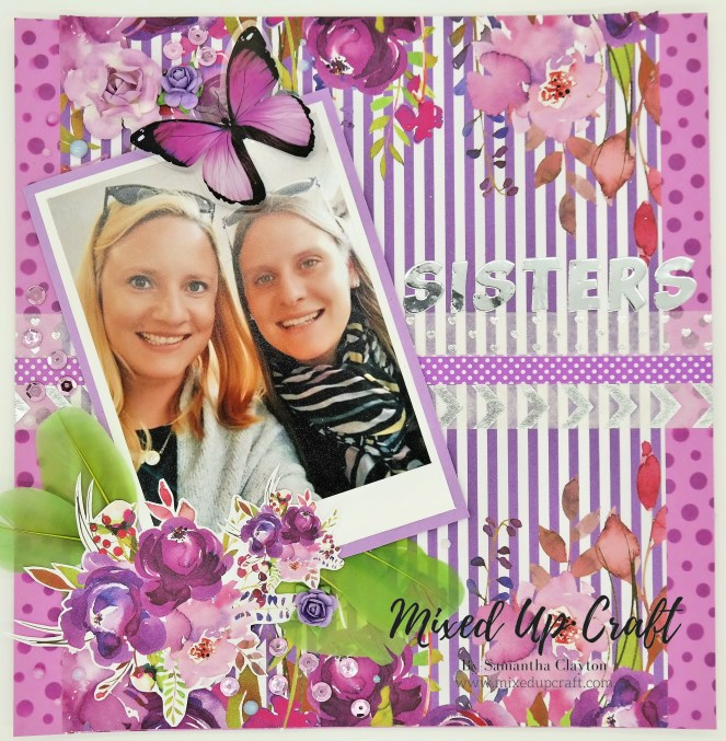 "Scrapbook Layout ""Sisters"""