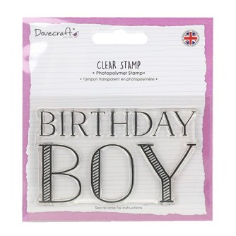 "Dovecraft ""Birthday Boy"" Large Stamp"