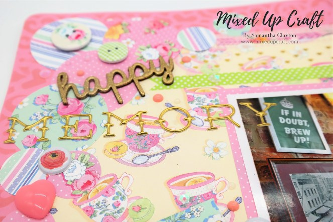 """Sweet Moments"" Scrapbook Layout"