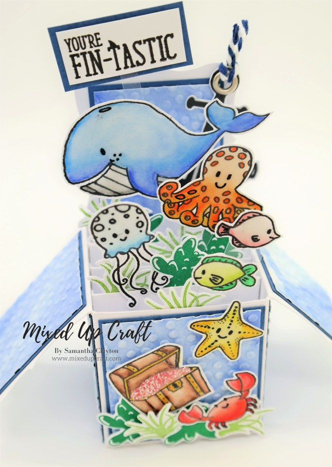 "Pop Up Box Card For The Love Of Stamps ""Under The Sea"""