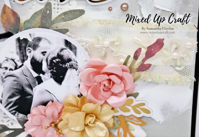 "Wedding Scrapbook Layout ""4 Years Married"""