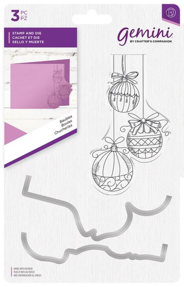 Gemini Baubles Stamp & Die Set