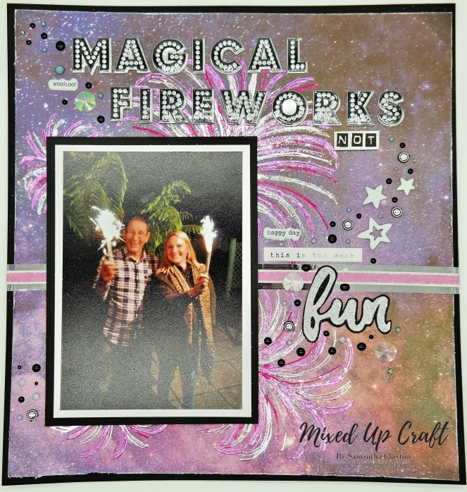 Scrap-booking Layout Magical Fireworks