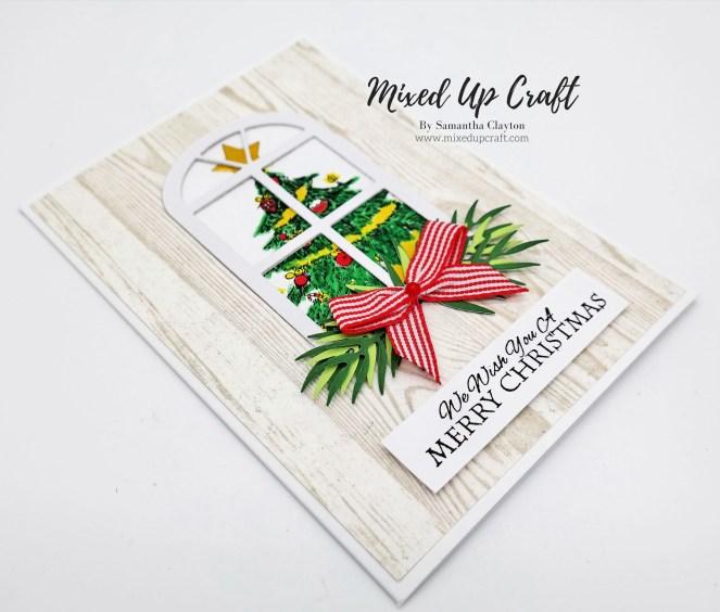 Christmas Tree Window Card