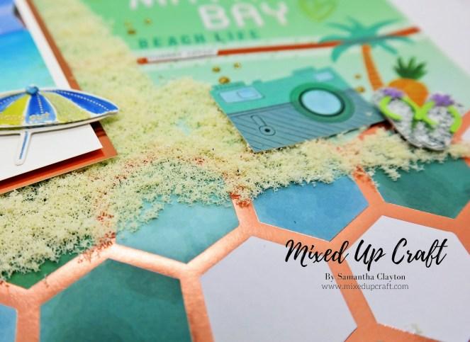 Beach themed scrapbook layout