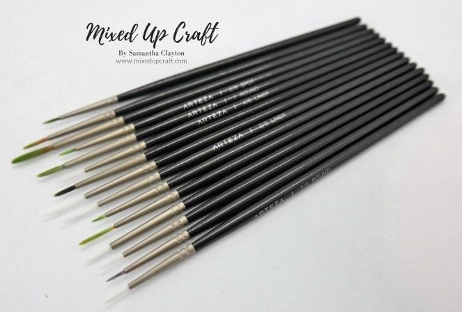 Arteza Set of 15 Detailed Paint Brushes