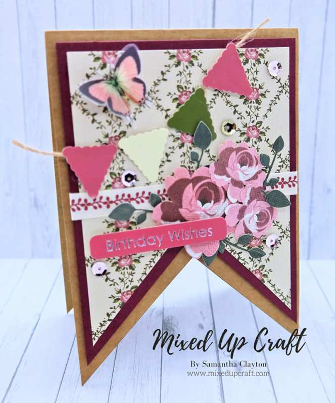 Bunting Fold Cards