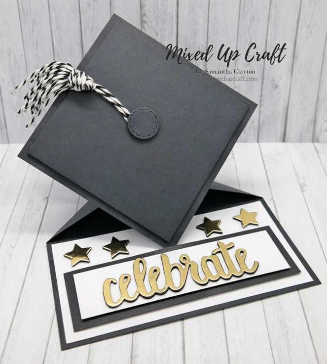 Graduation Cap Easel Card