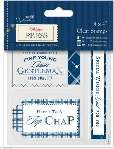 Docrafts Heritage Press Clear Stamp Set
