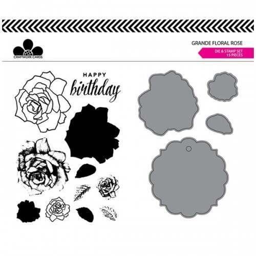Grande Floral Stamp and Die Set
