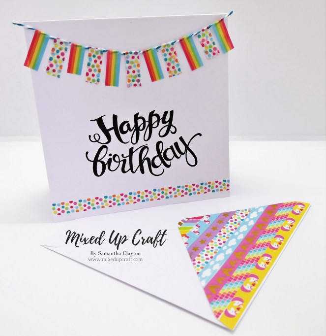 Washi Tape Bunting Card