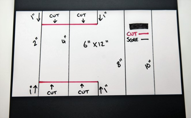 Large Double Display Fold Card Template