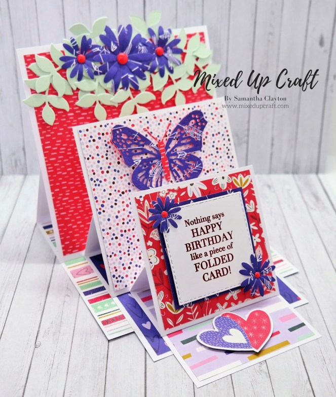 Square Triple Easel Card