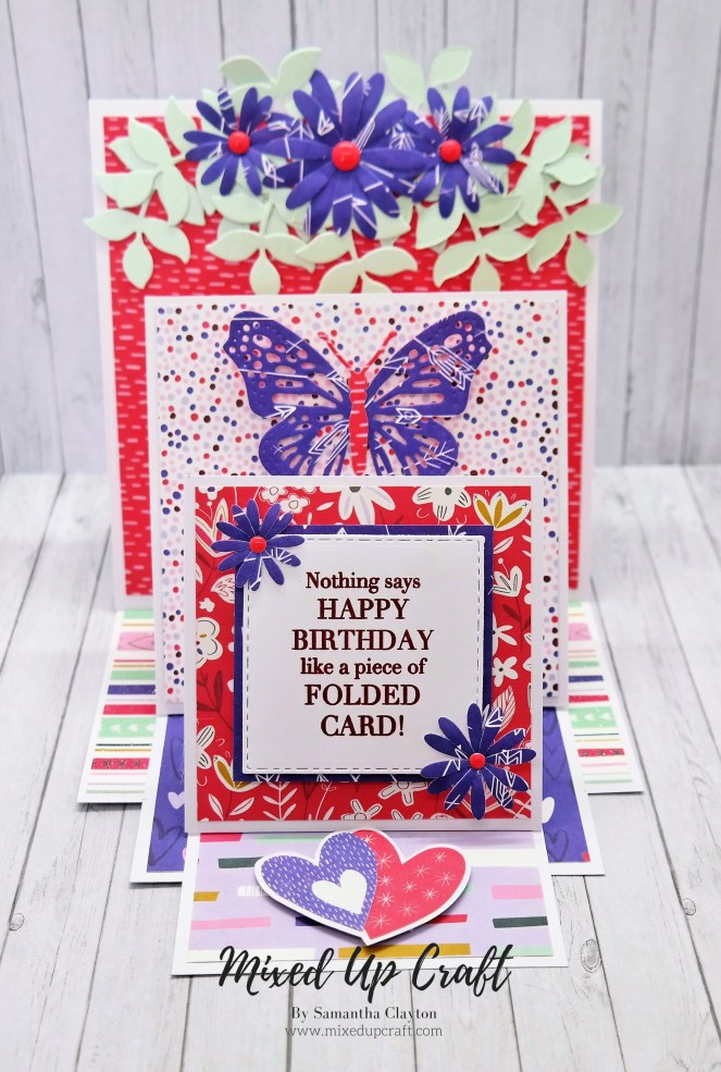 Square Triple Easel Card