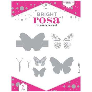 Bright Rosa Butterfly Band Die