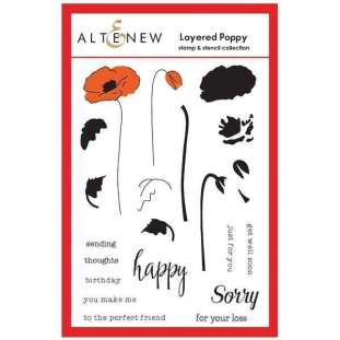 Altenew Layered Poppy Stencil