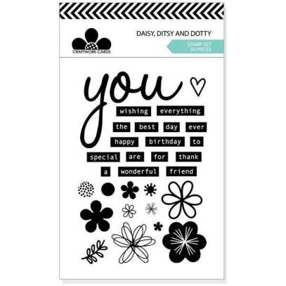 Craft Work Cards Daisy, Ditsy, Dotty stamp set