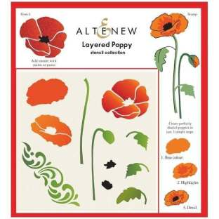 Altenew Layered Poppy stamp set
