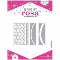 Bright Rosa Geometric Edge Builder Dies