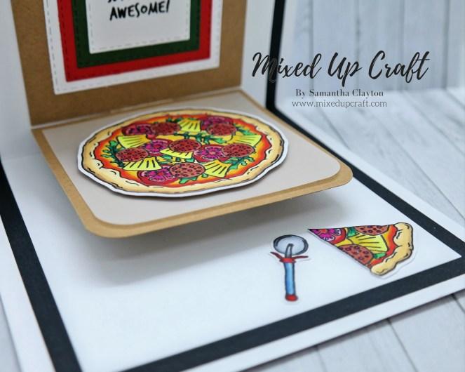 Pop-Up Pizza Box Card