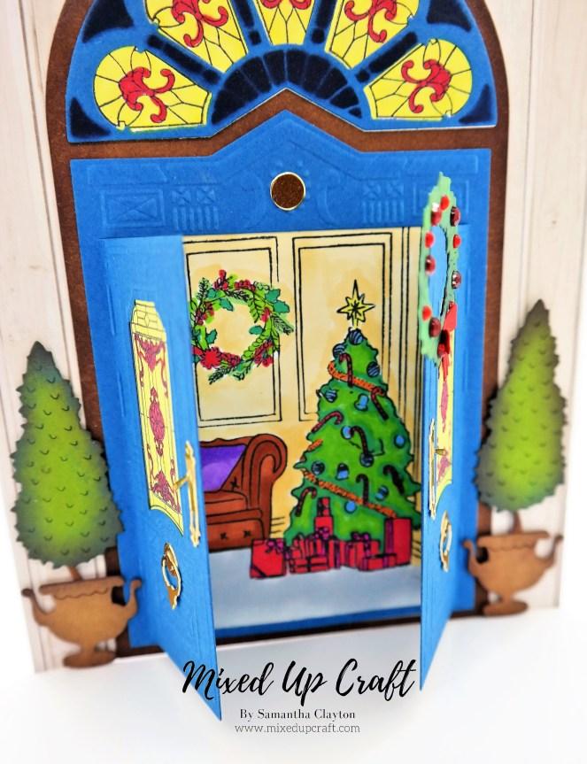 Christmas Fancy Door Card