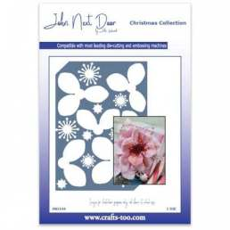 John Next Door Christmas Rose Plate Die